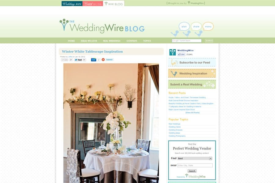 weddingwire styleshoot melissa arlena Published!